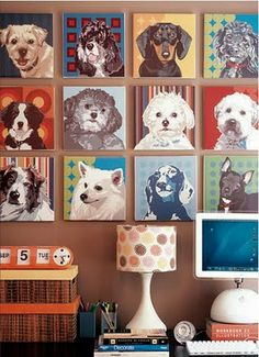 Dog Decor....i LOVE this for a walll