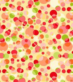 Tutti Fruiti Embossed Basic Fabric Free Dots Yellow, , hi-res