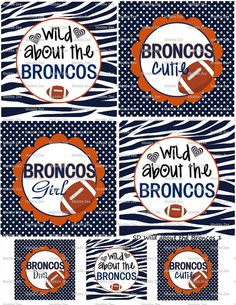 DIY Printable Wild about the Broncos Shrinky Dinks by MaddieZee, $1.25