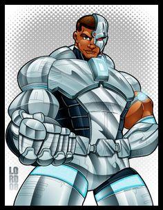 #Cyborg #Fan #Art. (Cyborg) By: Lordmesa.
