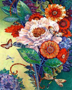 Art Floral, Artist Canvas, Canvas Art, Framed Canvas, Watercolor Flower, Art Aquarelle, Guache, Art Et Illustration, Anime Comics