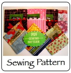 Tea Party Coasters | Sewing Pattern | YouCanMakeThis.com