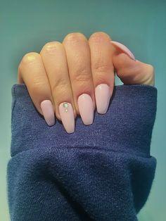 unha rosa com brilhantes Nails, Beauty, Finger Nails, Ongles, Beauty Illustration, Nail, Nail Manicure