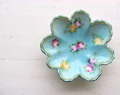 Aqua porcelain bowl