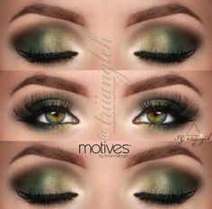 Naomi - Make up idea for girls in relationship with Robin Hood and the green theme he has. Dark green smokey eye.