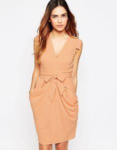 Image 1 ofASOS Crepe Dress with Obi Wrap