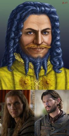 Game of Thrones character illustrations from the book versus their actor counterparts on the show (22 Photos)