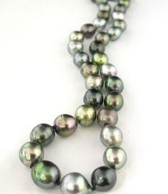 Stunning 9-11mm Tahitian Pearl Necklace @LarcJewelers #larcjewelers
