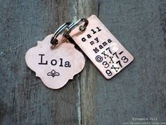 The BOHO Tag with design stamp -  Vintage Inspired Pet Tags (TM) - Custom Handmade by Sycamore Hill