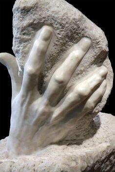 Rodin sculpture of hand