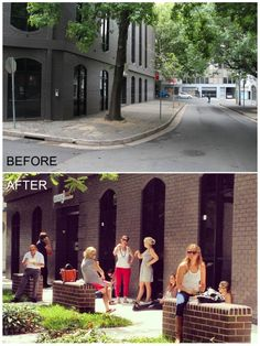 Greening Sydney - Surry Hills. From dead space to lively people place.