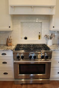 In remodeling backsplash, you can do it without moving anything. Here are the best ways to install new kitchen backsplash to upgrade the look of the room. Kitchen Stove, Kitchen Redo, Kitchen Pantry, Kitchen Cabinets, White Cabinets, Soapstone Kitchen, Cheap Kitchen, Kitchen Countertops, Kitchen Ideas