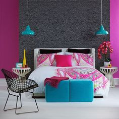 Dark and Purple Wall Color Scheme and Pink Bed Covers in Modern Kids Bedroom Furniture Sets for Girls and Boys. Description from pinterest.com. I searched for this on bing.com/images