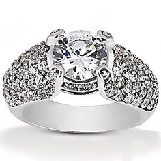 huge+diamond+rings | ... Details: Big diamond engagement ring 2.80 ct. diamonds gold ring