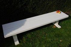bench - picknickbank - witte balken witte onderstellen