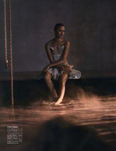 Karmen Pedaru for Vogue Japan June 2014 Styled by Sissy Vian /Photographed by Sean & Seng