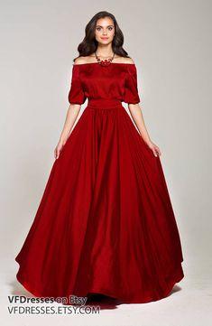 Marsala summer Dress, Silk dress, maxi off shoulder dress, full length elegant dress, open shoulder