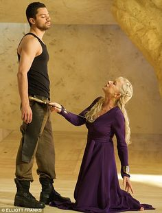 Helen Mirren teams up with young Dominic Cooper for her triumphant return to the stage in the production Phedre