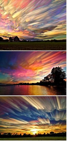 Smeared Skies by Matt Molloy. These are just gorgeous. Made from hundreds of stacked photos!