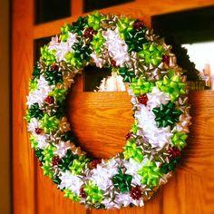 Christmas bow wreath!