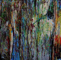 Paula White-Diamond, Because I Can, 36x36, mixed media on panel