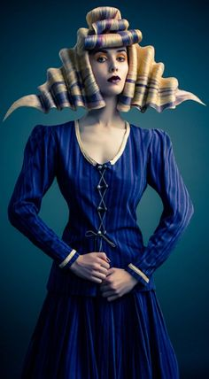 Hair Art / avant garde hair This reminds me of ribbon candy. Creative Hairstyles, Cool Hairstyles, Avant Garde Hairstyles, Angelo Seminara, Editorial Hair, Beauty Editorial, Extreme Hair, Fantasy Hair, Fantasy Makeup
