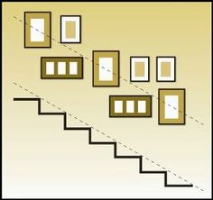Decorating a Staircase {Ideas & Inspiration} picture wall arrangement organization The post Decorating a Staircase {Ideas & Inspiration} appeared first on Wandgestaltung ideen. Organisation Des Photos, Picture Frame Layout, Picture Collages, Wall Frame Layout, Collage Photo, Stairway Pictures, Stairway Art, Picture Arrangements On Wall, Stairway Decorating