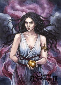 Eris - Athina Poda Konstantinidou by Pernastudios on DeviantArt Greek Mythology, Thalia, Deities, Egyptian, Indie, Wonder Woman, Deviantart, Superhero, Starfish