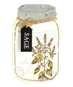 Sage Jar Sign by Blossom Bucket #zulily #zulilyfinds