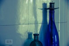 old bottles and reflections