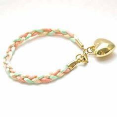 Pastelle - satincord bracelet by Follow your Bliss www.followyourbliss.nl