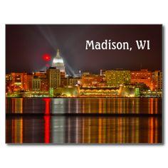 Madison, Wisconsin Postcards