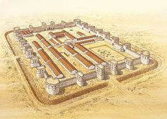 The late Roman fortress at Betthorus (El-Lejjun), c. AD 378 (Comment by original pinner). Ancient Egyptian Art, Ancient Aliens, Ancient Rome, Ancient History, European History, Ancient Greece, American History, Architecture Antique, Roman Architecture