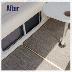 Replace old boat carpeting with new woven vinyl flooring. We'll show you how to make your own snap-in boat flooring in this video.