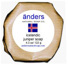 Anders Natural Soap Co. Icelandic Juniper Soap.  Raleigh Farmer's Market.  AMAZING!