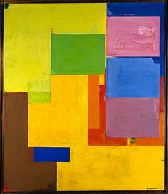 "Hans Hofmann (German-American) Veluti in Speculum, 1962. Metropolitan Museum, N.Y. His signature canvases of the late 1950s and the early 1960s, Hofmann brought to his paintings what art historian Karen Wilkin has described as a ""range from loose accumulations of brushy strokes…to crisply tailored arrangements of rectangles…but that somehow seems less significant than their uniform intensity, their common pounding energy and their consistent physicality."""