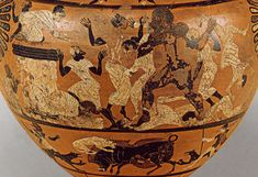 Heracles killing the Pharaon Busiris. Detail. Caeretan hydria. Eastern Greek. Clay. Ca. 520—510 B.C. Height 45.5 cm. Inv. No. IV 3576. Vienna, Museum of Art History, Collection of Classical Antiquities.