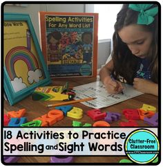Spelling Activities for Any Word List: EDITABLE {Makeover Monday Product Updates} (Clutter-Free Classroom) Kindergarten Reading, Teaching Reading, Reading Fluency, Teaching Ideas, Teacher Emergency Kit, Teaching Sight Words, Spelling Activities, Spelling Practice, Teaching Language Arts