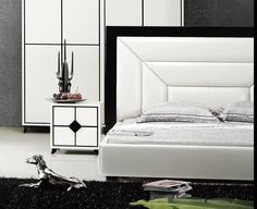 Dupen Penelope Bed White - Bed PU Leather, Storage platform. | Modern Beds  | Pinterest | Leather, Beds and Storage