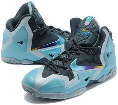 183a52bdabb Nike Lebron 11 China Warriors Grey Black Blue Running Shoes