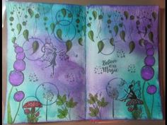Mixed Media Art Journal Process/Believe In The Magic