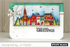 Good format for Close To My Heart Christmas Village stamp set.  Introducing Winter Wonderland: Make it Miniature