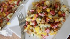 Live Below The Line Recipe Cheesy Roasted Potatoes & Sausage | Divas Can Cook