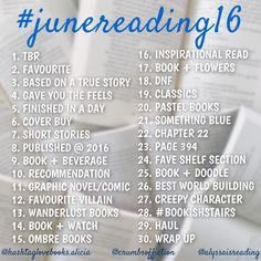 #junereading16 - bookstagram challenge for June! Hosted by @alyssaisreading , @crumbsoffiction and @hashtaglovebooks.alicia <3