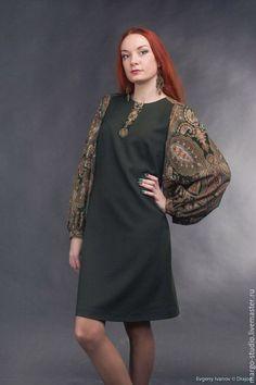 0a262087746 Платья ручной работы. Ярмарка Мастеров - ручная работа. Купить платье  Фантазия. Handmade. Тёмно-зелёный