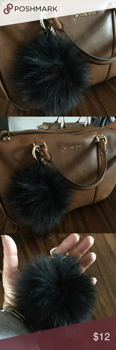 New Large Real Fur Purse/Handbag Charm, Black NWOT. Accessorize your handbag with this generously sized purse charm made of real fur. It will look beautiful on your Coach,  Michael Kors, Fossil, Brahmin  handbag. Light goldtone metal clasp. Create a bundle for a discount and to save on shipping. I ship quick! Accessories
