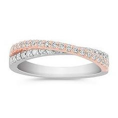 wedding band diamond pave crossover interlock - Bing Images