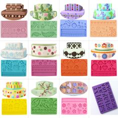 Beautiful Flower Silicone Fondant Molds Sugar Paste Cake Decorating Moulds Tools