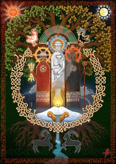 "#pagan , #slavic_mythology , #slavic_gods , #pagan_mythology, #Perun, #Svarog, #Veles ""The Three Gods"" http://vesemir.blogspot.ru/2015/04/blog-post_18.html"