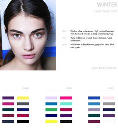 FINDING YOUR BEST COLOURS: The Winter type